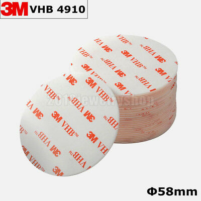3M VHB 4910 Clear Acrylic Foam Double Side Adhesive Tape 58mm Round