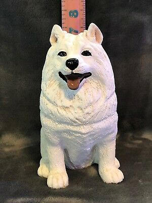 Samoyed Plaster Dog Statue Hand Cast And Painted By T.c. Schoch