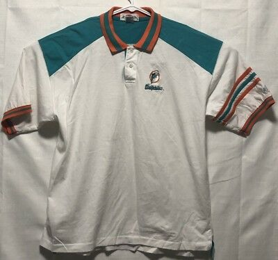 831c20f8c Miami Dolphins Antigua Sport NFL Pro Line XL Polo Shirt Short Sleeve  Embroidered