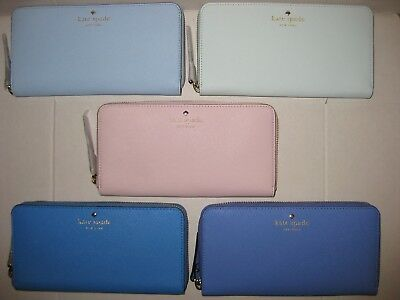 New Kate Spade Lacey Mikas Pond Zip Around Wallet Clutch CHOOSE COLOR NWT