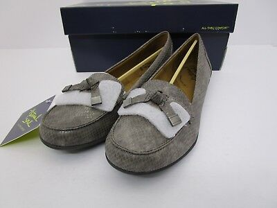 d3aa8135b5a Natural Soul Gracee Faux Leather Tassel Slip On Loafers Grey Snake Size 9 M  US
