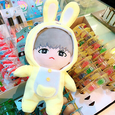 KPOP NCT EXO BTS SUGA Plush Doll's clothes Cute Rabbit Jumpsuit Gift【NO DOLL】