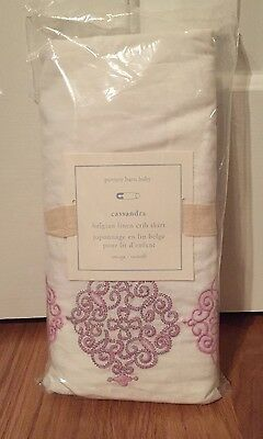NEW Pottery Barn Kids Baby Nursery Cassandra Crib Skirt