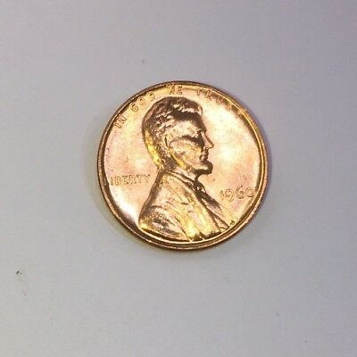 1960 Lincoln Memorial Small Cent Uncirculated Bright Red