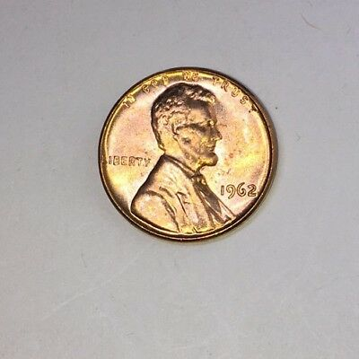 1962 Lincoln Memorial Small Cent Uncirculated Bright Red