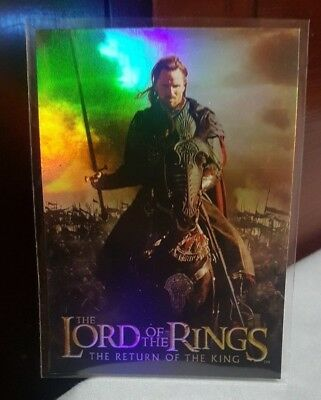 2003 TOPPS LORD OF THE RINGS LoTR RETURN OF THE KING #2 ARAGORN PRISMATIC FOIL