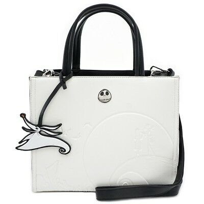 Loungefly x The Nightmare Before Christmas Debossed Cream Satchel