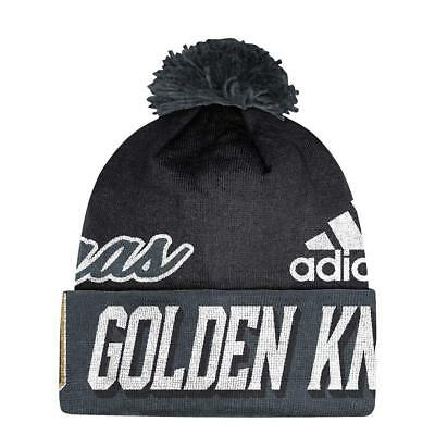 0a273594f6c VEGAS GOLDEN KNIGHTS Cuffed Knit Hat with Pom - IN STOCK -  16.95 ...