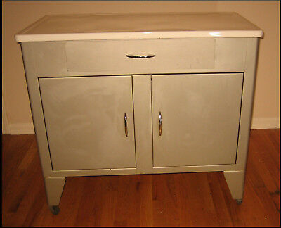 """Vintage """"Shampaine Company"""" metal supply cabinet (Local Pick-Up)"""