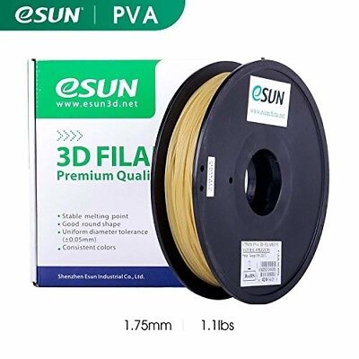 eSUN 3D Printing Filament PVA (Water Soluble Support) Natural 0.5KG for 3D Print