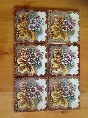 Victorian hearth tiles - Selling Six