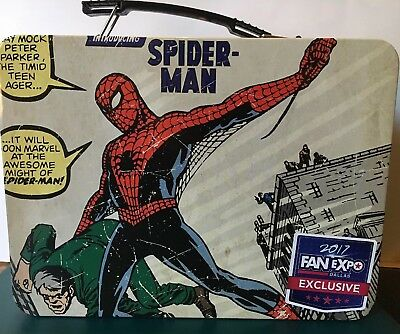 Spiderman Metal Lunch Box 2017 Fan Expo Exclusive