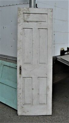 Antique Maine Painted Pine Raised Panel Door A