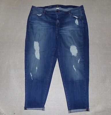 Womens Lane Bryant Destructed Boyfriend Jeans Sz 24