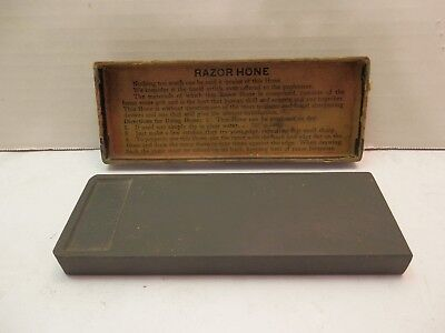 Vtg Enders Oak Leaf Sharpening Stone Hone Barber Straight Razor