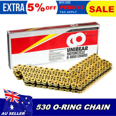 530 O RING 120L Motorcycle Chain for Kawasaki ZR1100 ZRX1100 ZZR1100 ZX-12R