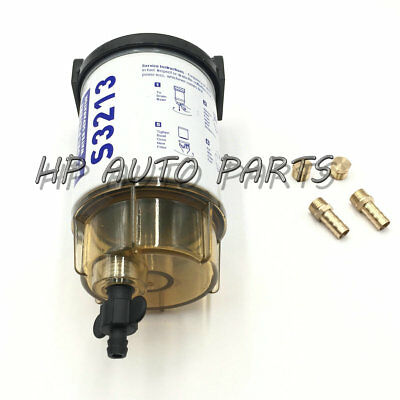 """3/8"""" NPT Fuel Filter Fuel Water Separator Kit Assembly S3213 for Marine"""