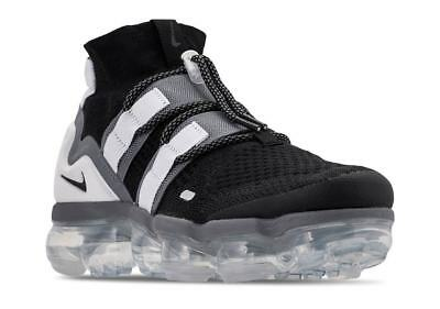 Nike Air VaporMax Flyknit Utility Shoes Black Gray Platinum AH6834-003 Men's NEW
