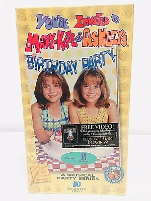 Youre Invited To Mary Kate Ashleys Birthday Party Vhs Mary Kate