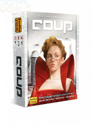 """Indie Boards and Cards """"COU1IBC"""" IBCCOU1 Coup Card Game"""