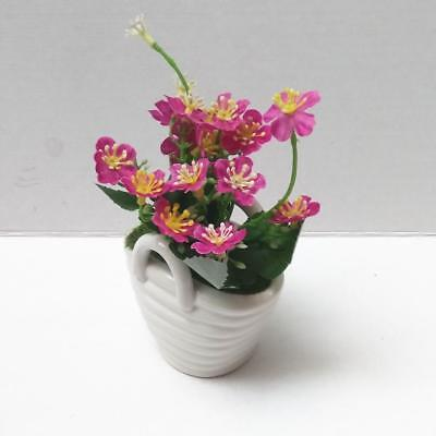 Fake Artificial Flower Ceramic Pots Office Home Decors Flowers Bonsai Pink