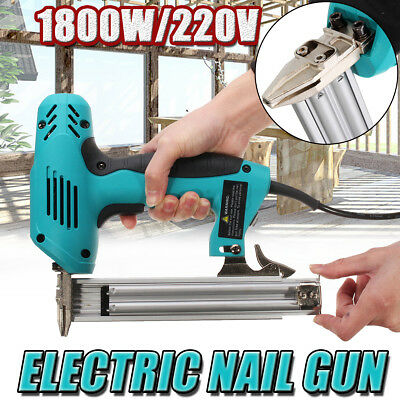 2000W 10-30mm Electric Straight Nail Staple Gun Heavy-Duty Woodworking Tool 220V