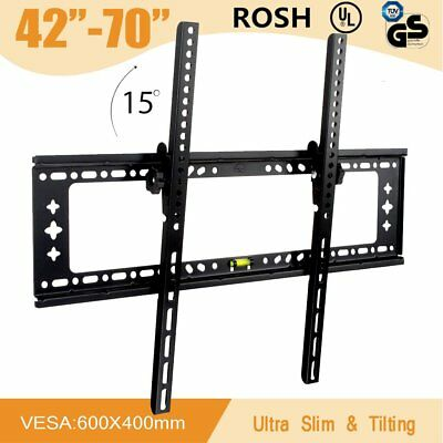 TV WALL MOUNT BRACKET LCD LED Plasma Tilt 32 40 42 47 50 52 55 60 65 70 Inch