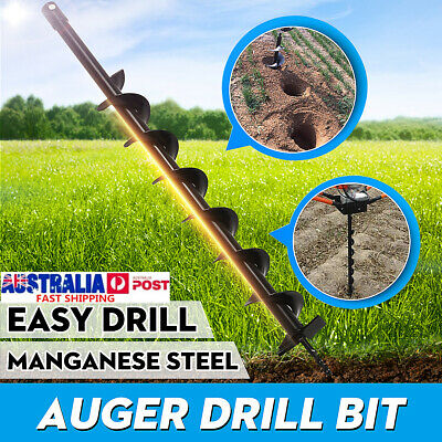 40/60/80/100mm Earth Auger Drill Bit Fence Borer Garden Petrol Post Hole Digger