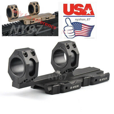 US 25-30mm Ring20mm Rail Heavy Duty Cantilever Scope Mount QD Lock Quick Detach