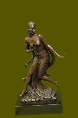 Austrian Vienna Art Decor Bronze Figure Descomps Dancer Sculpture Statue Deal