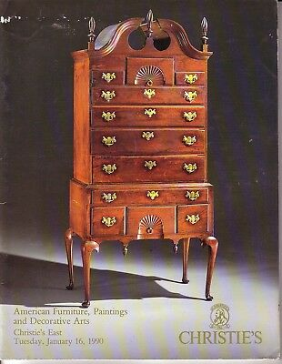 Christie's Tuesday, January 16, 1990  - American Furniture, Paintings, and Decor