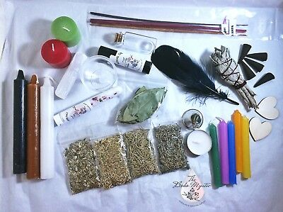 Wicca Starter Kit for beginners pagan witchcraft wicca supplies altar tools