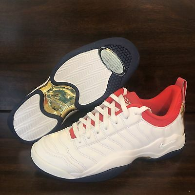 new arrival 5f8f2 dcd14 Nike Air Oscillate Olympic USA White Red Blue Mens Shoes Sz 10 140370-106