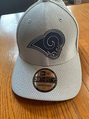 huge selection of 3de05 5b61a Los Angeles Rams Cap New Era 39Thirty Stretch Fitted Hat 2018 Training Camp  L xl