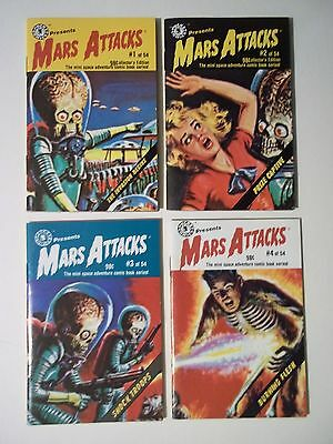 Mars Attacks Mini Comic Books - Vol 1 through 4