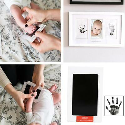 Black Ink Pad Inkpad Rubber Stamp Finger Print Craft Non-Toxic Baby Safe New