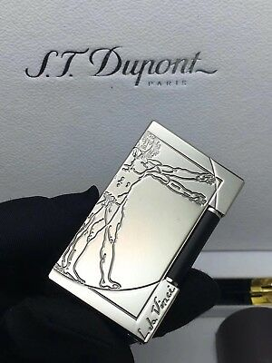 S.T Memorial Dupont lighter Silver Bright Sound in box
