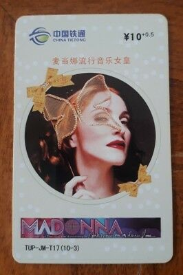 Madonna Phone Card from China (used) 3