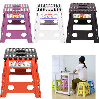 Plastic Multi Purpose Fold Step Stool Fit Home Kitchen Foldable Carry Storage