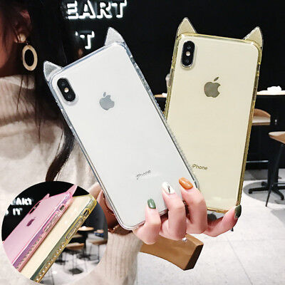 Clear Bling Diamond Clear Soft Case Cover For iPhone XS MAX XR X 8 7 6 6S Plus