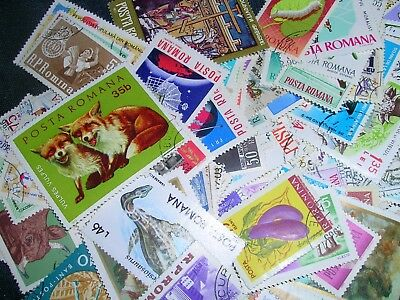 Romanian Postage Stamps over 100 stamps mixed great condition