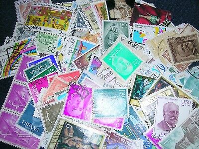 Spain Postage Stamps over 100 stamps mixed great condition