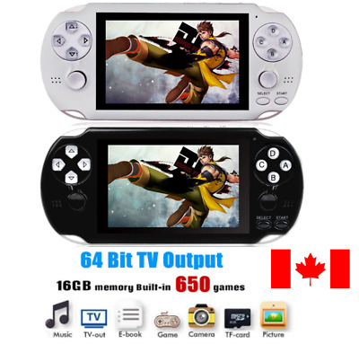 Retro HD 650 Classic Game 64 Bit 16GB Handheld video Game console player pad