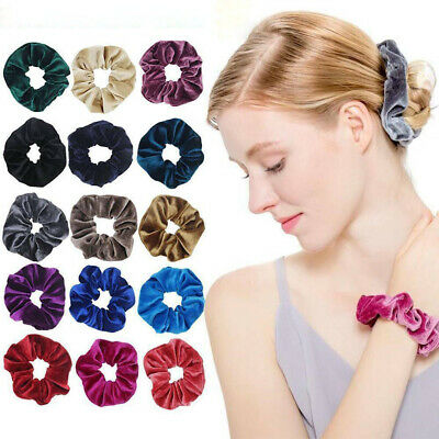 Velvet Women Scrunchies Ponytail Holder Hair Accessories Lot Elastic Hair Band