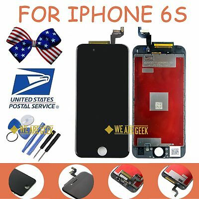 "For iPhone 6S 4.7"" LCD Touch Screen Digitizer Assembly Replacement Frame Black"