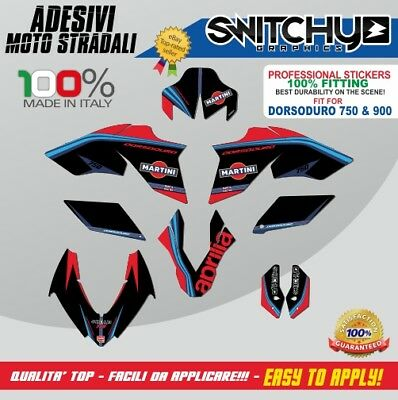 Kit Adesivi Grafiche Black Martini Aprilia Dorsoduro 750 Decals Dekor Stickers