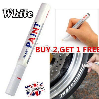 Paint Marker Pen Waterproof Oil Markers Pens Car Tyre Tire Tyres Metal White UK