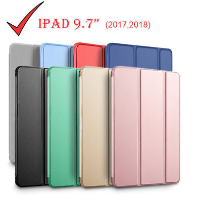 "iPad 9.7"" 5/6th Gen 2018/2017 Shockproof Smart Cover Case Soft Back 2 Stand"