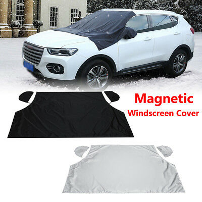 Car Magnetic Windscreen Windshield + Mirror Cover Snow Ice Frost Protector UK