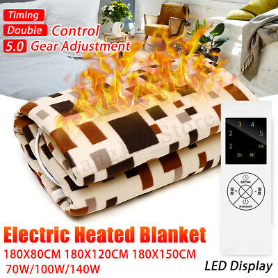 220V Electric Heated Bedding Blanket Rug Throw Flannel Heater Waterproof 5 Model